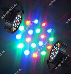 Flat LED Par 18 RGB