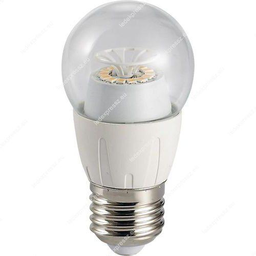 Led átlátszó körte égő 6W, E27,540 lumen, 45mm, 2700 kelvin, meleg fehér