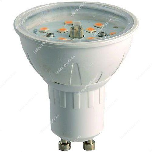Led GU10 spotégő 4W, 390 Lumen, 2700 KELVIN, meleg fehér, átlátszó búrával