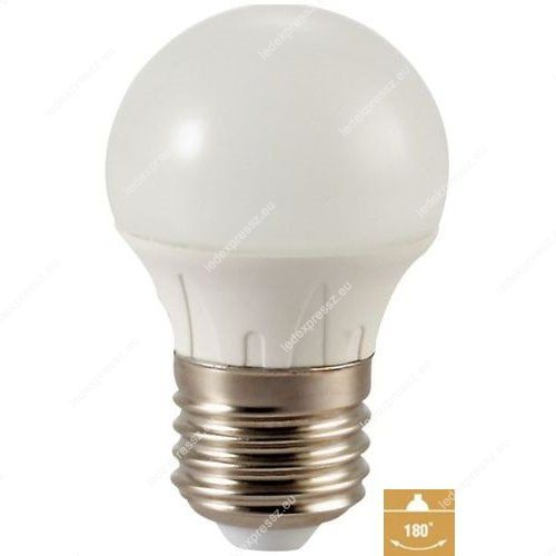 LED izzó G45 4W E27 280° szórásszögű Meleg fehér