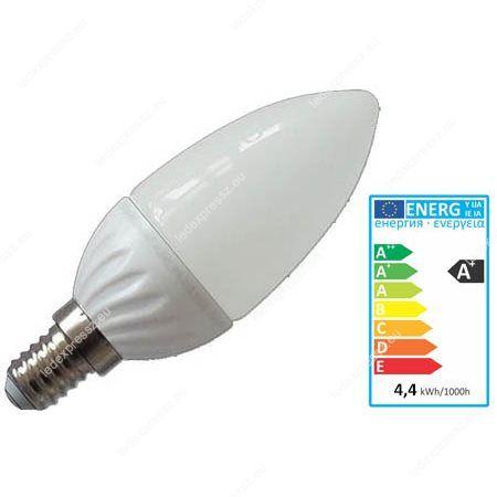 LED izzó 6W E14 270° hideg fehér