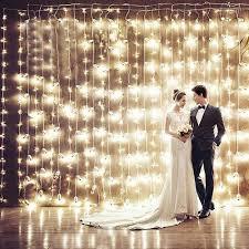 Esküvői led  Fényfüggöny  hideg  fehér 3 m x 3m