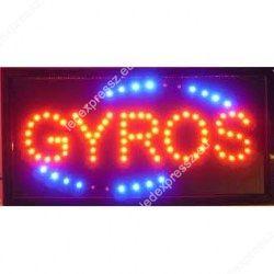 Gyros Led tábla villogó kék kerettel, ledexpressz.eu