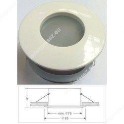 Led beépíthető lámpatest, alumínium IP65, fix, MR16 foglalattal, fehér, ledexpressz.eu