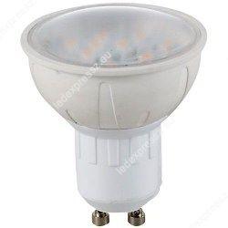 Led GU10 spot égő, 4W, 330 Lumen, meleg fehér,átlátszó búrával