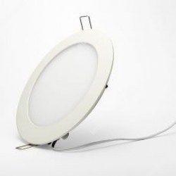LED panel (220mm) 12W (kör) meleg fehér süllyesztett ultra lapos, ledexpressz.eu