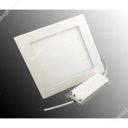 LED panel (220mm) 12W (négyzet) hideg fehér süllyesztett ultra lapos