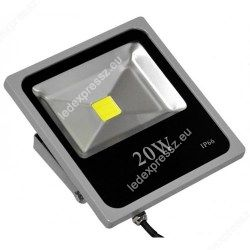 Led reflektor 20W IP66  hideg fehér lapos