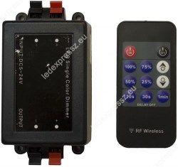 Led szalag dimmer + távirányító 8A 96W+11 gombos rádiós távirányító, ledexpressz.eu