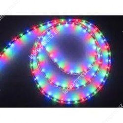 Led szalag kültéri RGB szines színváltós szett 60 led/m, 3528 chip, 12V, infrás távirányító, adapter