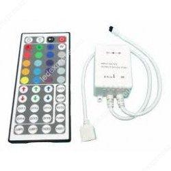 Led szalag vezérlő RGBW, 96W, infrás 40 gombos, RGB+ meleg fehér, ledexpressz.eu