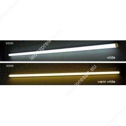18W 117 cm LED fénycső opál armatúrával egybeépítve (hideg fehér)