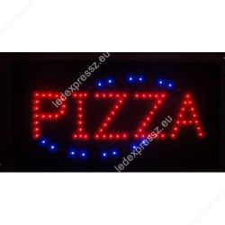 Ledes világító reklámtábla, PIZZA felirattal, ledexpressz.eu