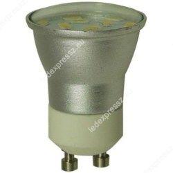 Mini GU10 led spot 230V, 2W, 200 lumen, 12 smd, meleg fehér, ledexpressz.eu