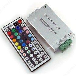 RGB led szalag vezérlő, 144W, infrás, 44 gombos, ledexpressz.eu