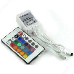 RGB led szalag vezérlő, 72W, infrás 24 gombos, ledexpressz.eu