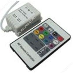 RGB led szalag vezérlő, 72W, rádiós, 20 gombos, ledexpressz.eu