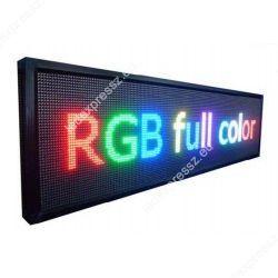 FÉNYÚJSÁG SZÍNES RGB LED REKLÁM TÁBLA KÜLTÉRI KIVITEL 40 cmx100 cm